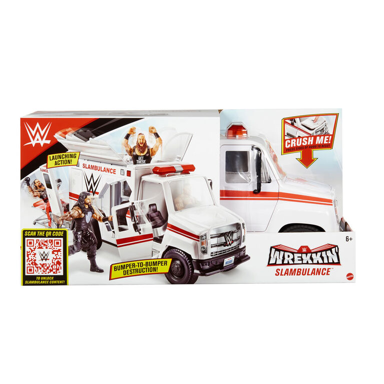 WWE Mattel Wrekkin/' Slambulance Ambulance Playset