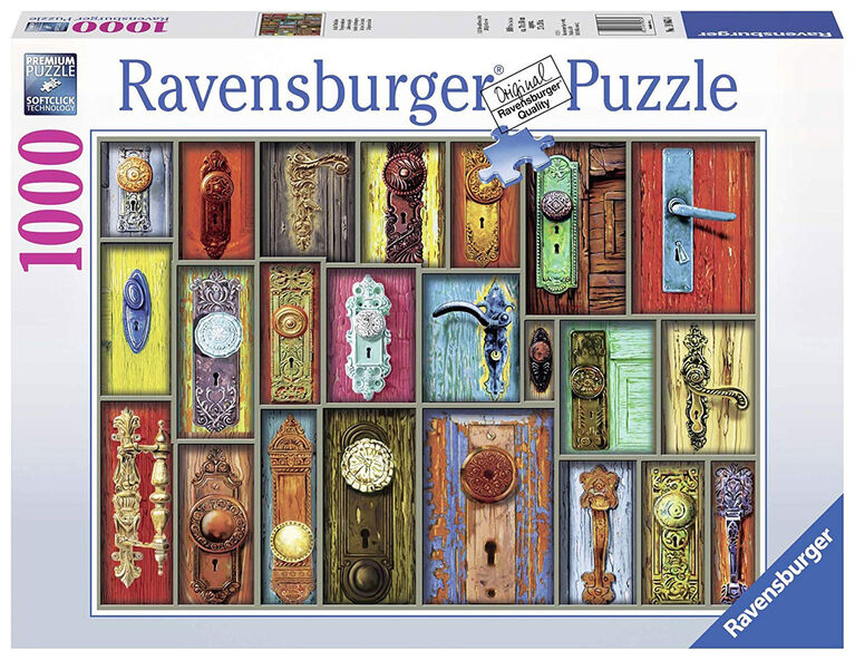 Ravensburger! Antique Doorknobs Jigsaw Puzzle - 1000 Piece