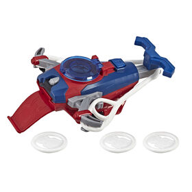 Spider-Man Web Shots Disc Slinger Blaster Toy