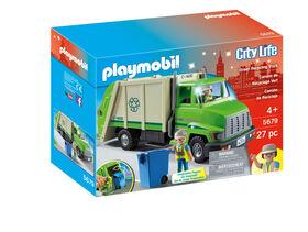 Playmobil - Camion de recyclage vert 5679
