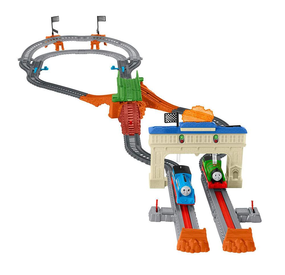 Thomas and Percy/'s Railway Race Set Train Track Master Toys Engine Birthday