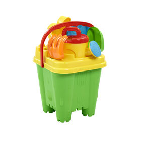 Out and About Beach Bucket Set Green/Yellow