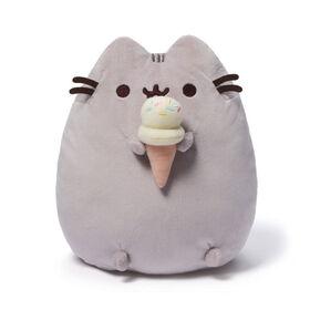 GUND, Peluche chat Pusheen gourmande avec crème glacée, 24,1cm