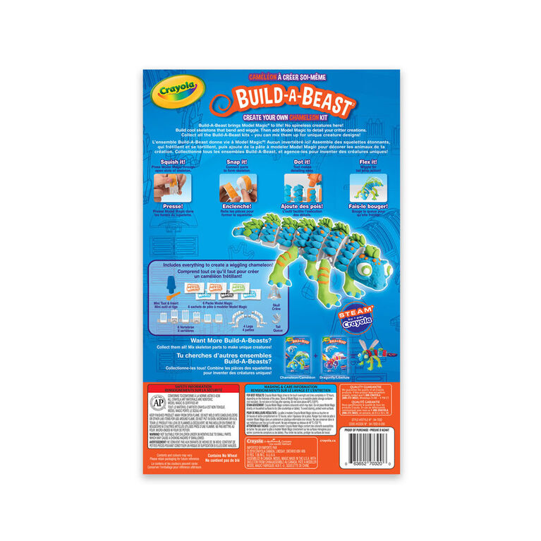 Crayola Build-A-Beast Craft Kit Chameleon