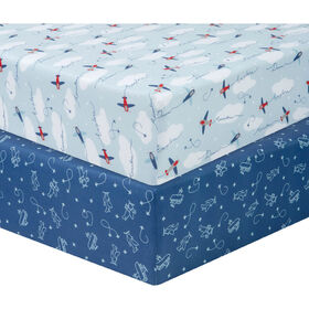 Airplanes 2 Pack Microfiber Sheets