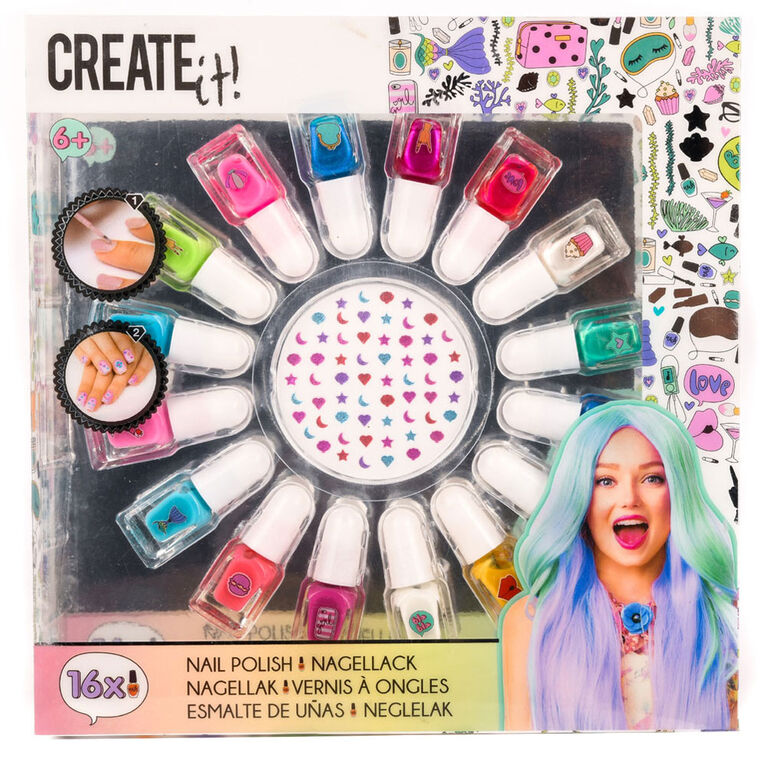 CREATE IT! Nail Polish Set Mermaid 16 Bottles