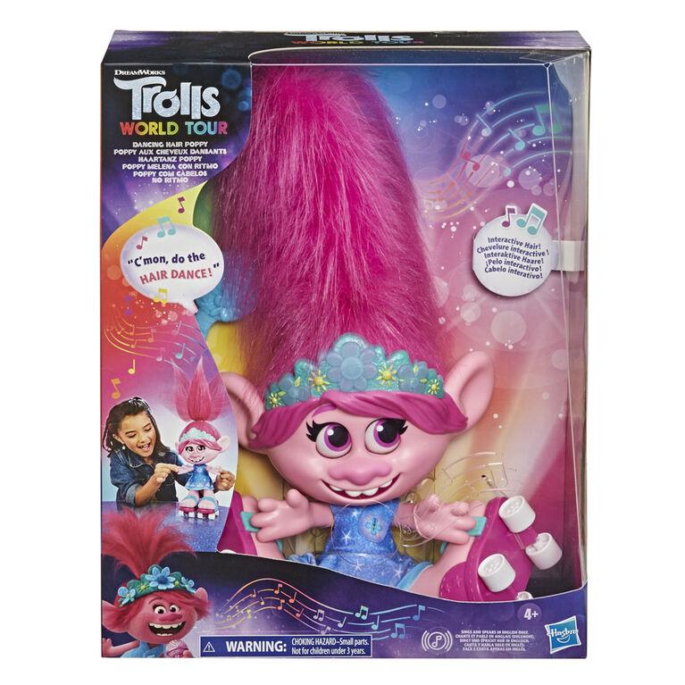 DreamWorks, Les Trolls 2 : Tournée mondiale, Poppy aux cheveux dansants, poupée interactive qui parle et chante - Édition anglaise