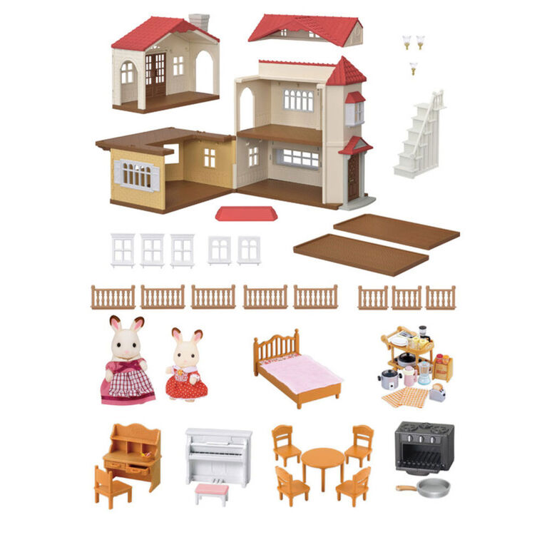 Calico Critters Red Roof Country Home Gift Set Toys R Us Canada