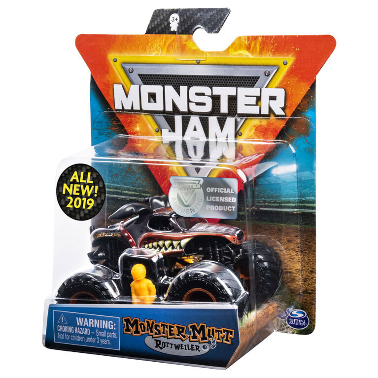 Monster Jam, Official Monster Mutt Rottweiller Monster Truck, Ruff Crowd Series, 1:64 Scale