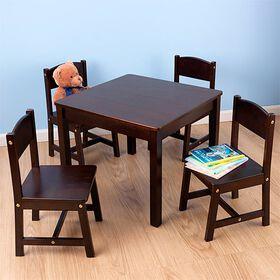 KidKraft Farmhouse Table & 4 Chair Set - Espresso