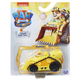 PAW Patrol, True Metal Rubble Collectible Die-Cast Vehicle, Movie Series 1:55 Scale