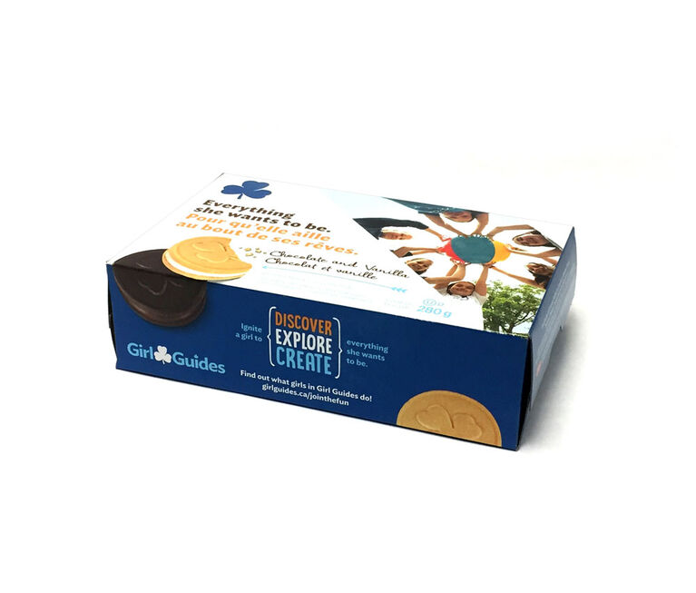 Girl Guides Chocolate and Vanilla Cookies