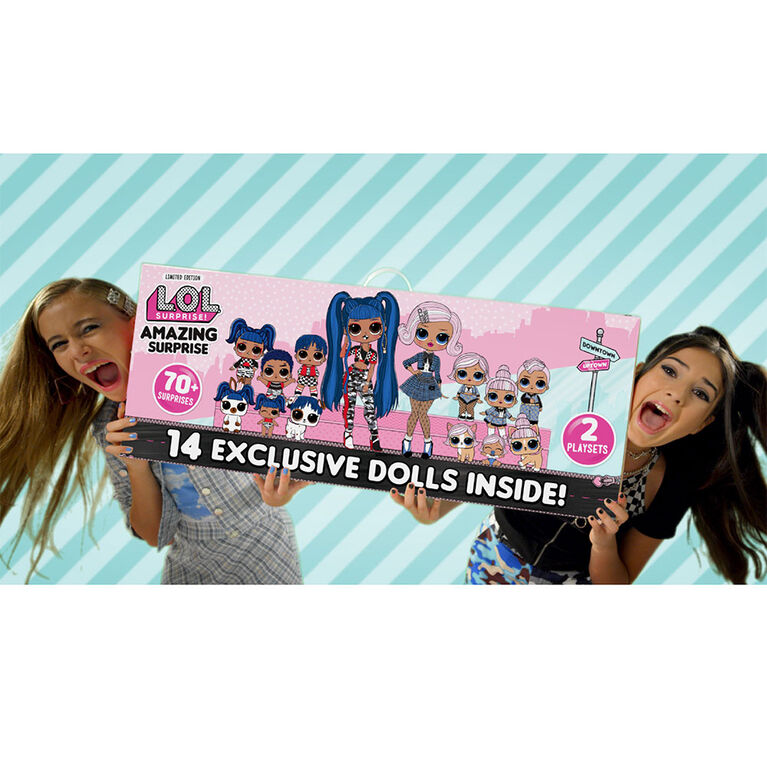L.O.L. Surprise! Amazing Surprise with 14 Dolls & 70+ Surprises - English Edition