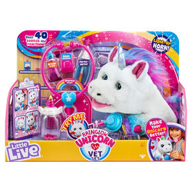Little Live Rainglow Unicorn Vet Set  031280