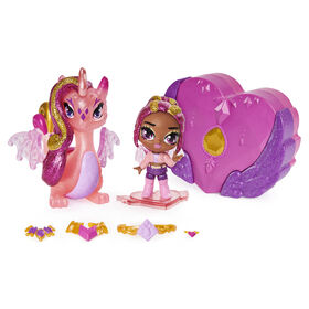 Hatchimals Pixies Riders, Crystal Charlotte Pixie and Draggle Glider Hatchimal Set with Mystery Feature