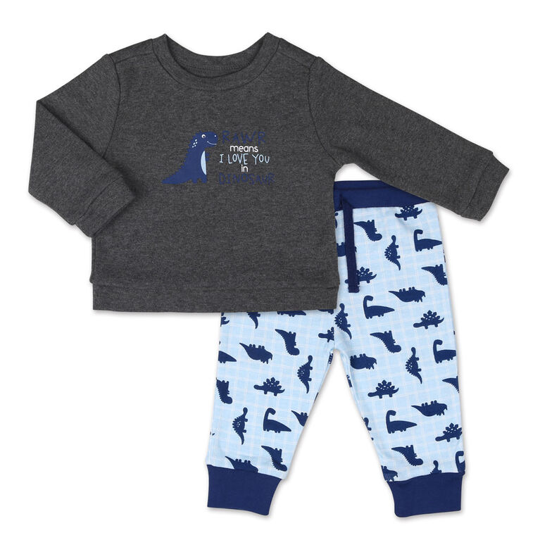 Ensemble Koala Baby Dinomite chemise à manches longues pour garçon et pantalon - 6-9 Mois