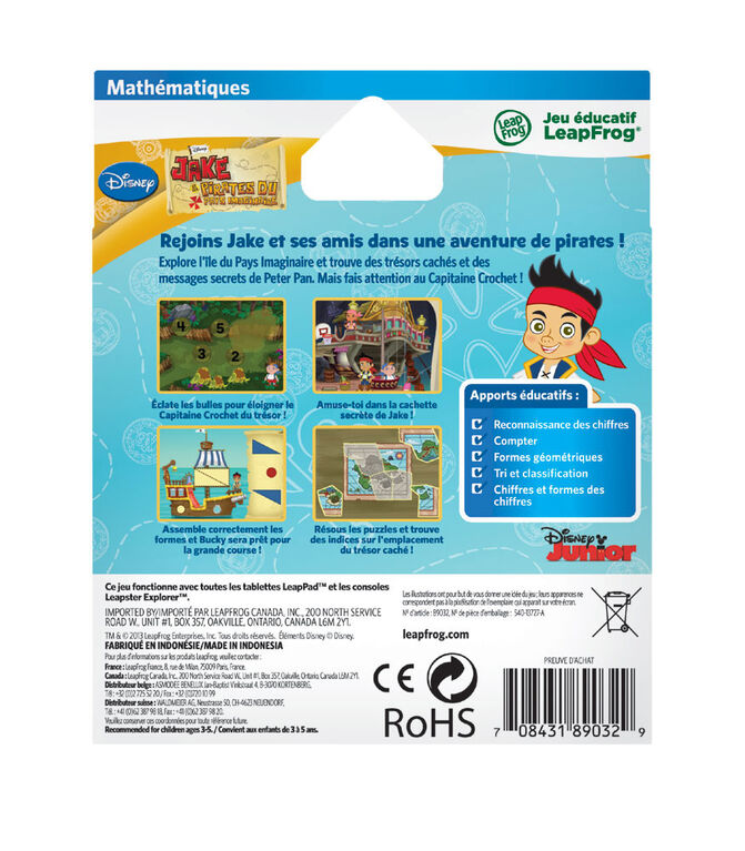 LeapFrog LeapPad Jake & The Neverland Pirates - Mathematics Learning Game - French Version