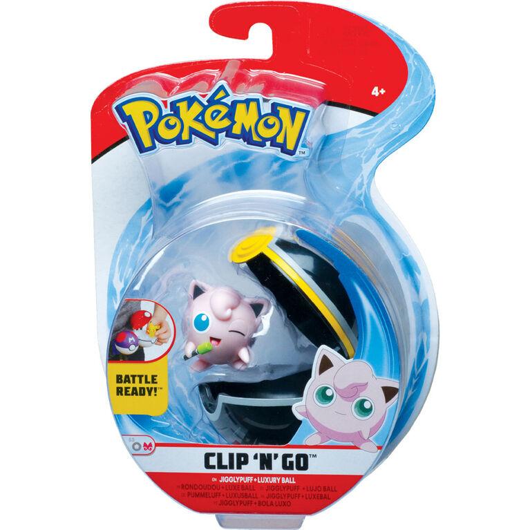 Pokémon Clip 'N' Go - Rondoudou (Jigglypuff) no 1 et ballon de luxe - Édition anglaise