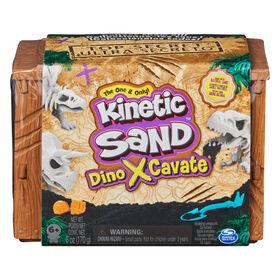 Kinetic Sand, Dino Xcavate, élaboré à partir de sable naturel, Sable de jeu sensoriel