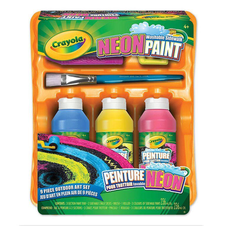 Crayola - Washable Neon Sidewalk Paint Kit