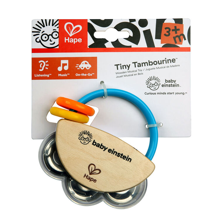 Tiny Tambourine Wooden Musical Toy