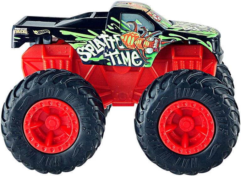 Hot Wheels - Monster Trucks Rev Treds Dueling Doubles Splatter Time VS Toadal Terror Vehicles