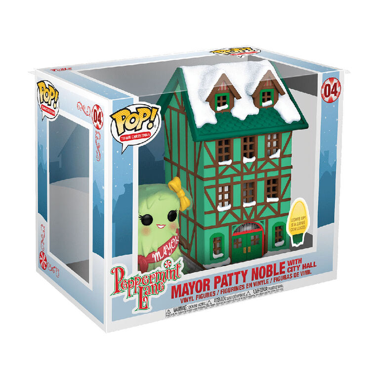 Figurine en Vinyle own Hall Avec Mayor Patty Noble Par Funko POP! Peppermint Lane