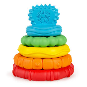 Stack & Teethe Multi-Textured Easy-to-Grasp 5-Piece Teether Toy Set