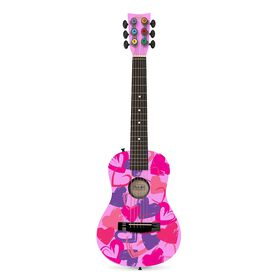 "First Act Pink with Hearts 30"" Acoustic Guitar"
