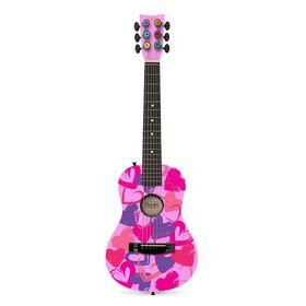 First Act - Guitare acoustique 30 po - Rose avec cœurs.