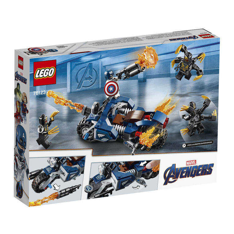 LEGO Super Heroes Marvel Captain America et l'attaque des Outride 76123