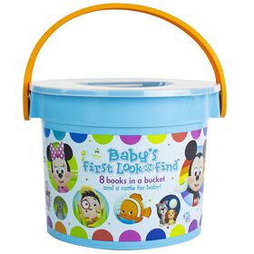 Disney Baby - Baby's First Look and Find - 8 Books in a Bucket and a Rattle for Baby!