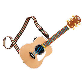 My Real Jam Acoustic Guitar, Toy Guitar with Case and Strap, 4 Play Modes, and Bluetooth Connectivity