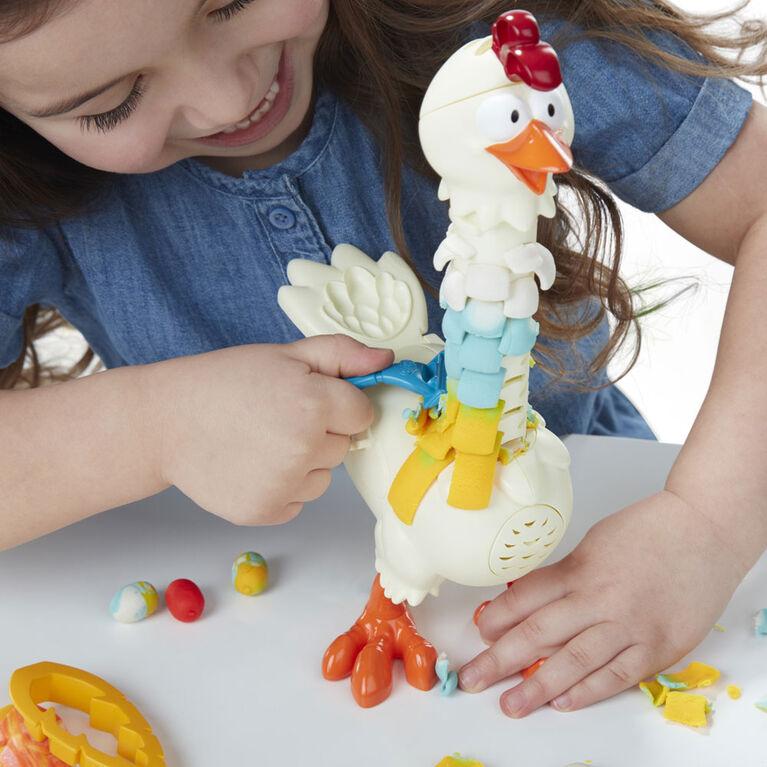 Play-Doh Animal Crew, Cluck-a-Dee Plumes en folie