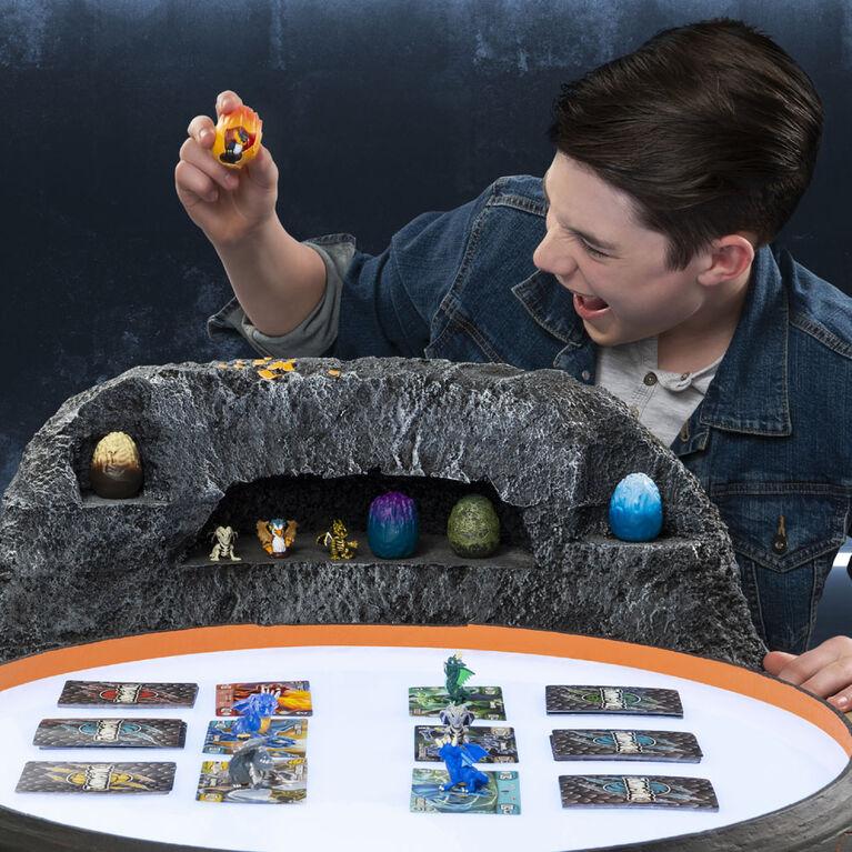 Dragamonz, Coffret de 1figurine Dragon, Jeu de cartes à échanger et de figurines à collectionner