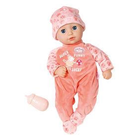 Poupée Petite Annabell Baby Annabell de 36 cm avec yeux somnolents, barboteuse et bonnet - Notre exclusivité