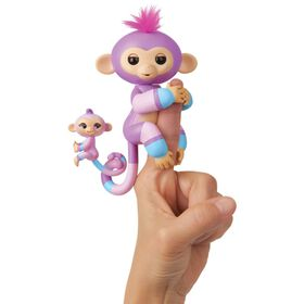 Fingerlings Baby Monkey & Mini BFFs - Violet & Hope (Mauve-Blue)