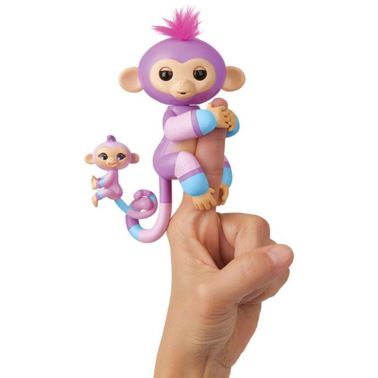 Les bébés singes Fingerlings & BFF Mini - Violet & Hope (Mauve-Bleu).