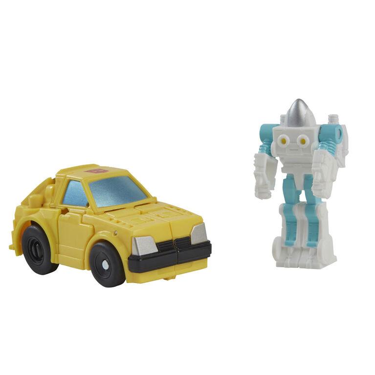 Transformers Buzzworthy Bumblebee War for Cybertron - Bumblebee de classe Origine et Spike Witwicky