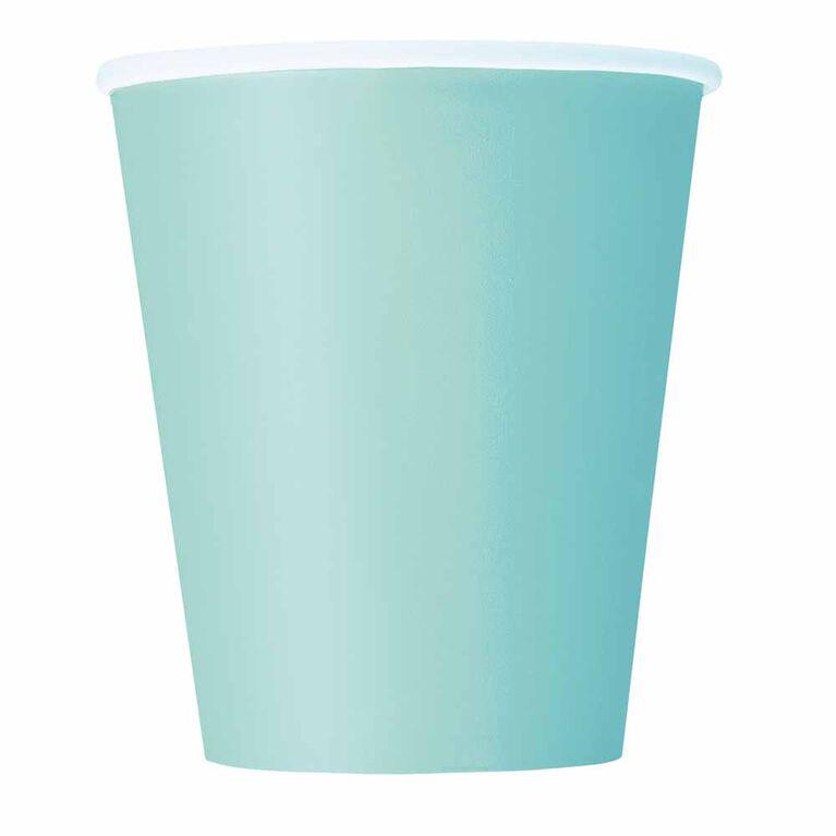 Mint Solid 9oz Paper Cups, 8 pieces
