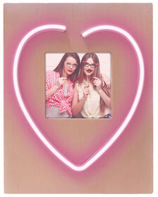 "Brilliant Ideas Neon "" HEART"" Photo Frame"