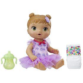 Baby Alive - Bébé Ballerine (cheveux bruns modelés). - Notre Exclusivité