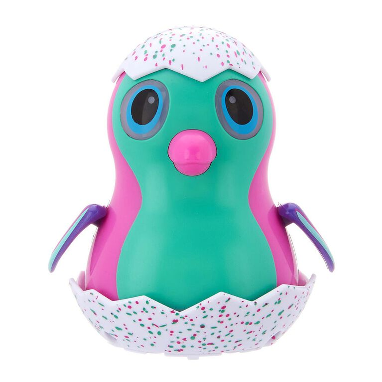 Hatchimals Wind-Up Eggliders With Lights & Sounds - Pink Penguala
