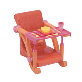 Our Generation, Let's Hang Clip-On High Chair Accessory for 18-inch Dolls
