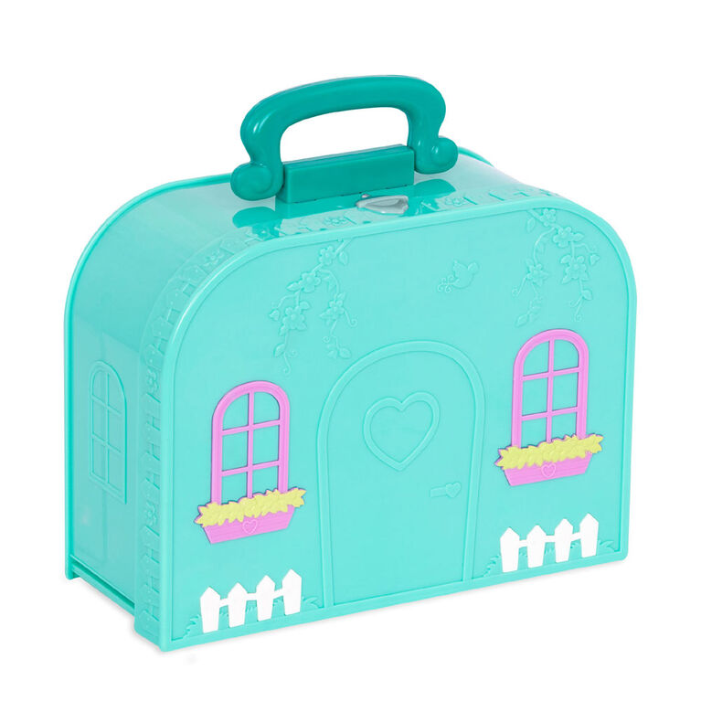 Li'l Woodzeez, Travel Suitcase Living Room Playset in Carry Case
