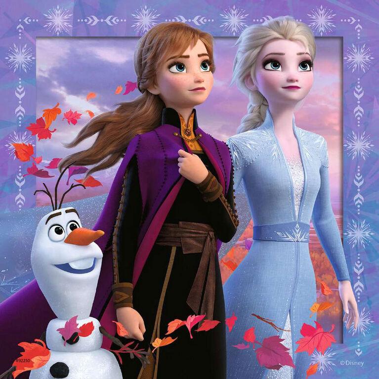 Ravensburger - Disney La Reine Des Neiges 2 Le voyage commence casse-têtes 3 x 49pc