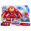 Playskool Heroes - Marvel Super Hero Adventures Iron Man and Hulkbuster Action Figures with Blaster Accessory