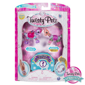 Twisty Petz, Series 2, Pack de 3 - Bijoux à collectionner Skyley Flying Unicorn, Sugarpie Llama et animal surprise