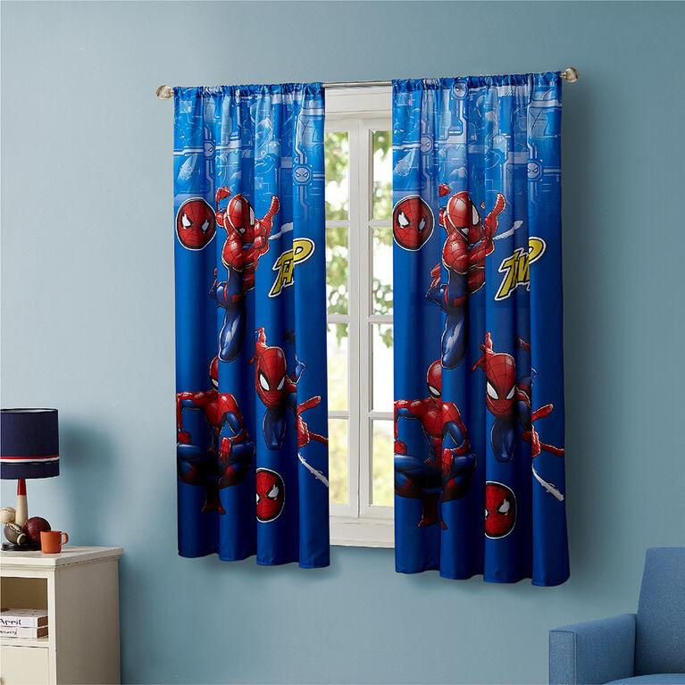 Rideaux Marvel Spiderman pour Enfants, Ensemble de 2 Panneaux
