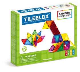Magformers TileBlox Rainbow 60-Piece Set
